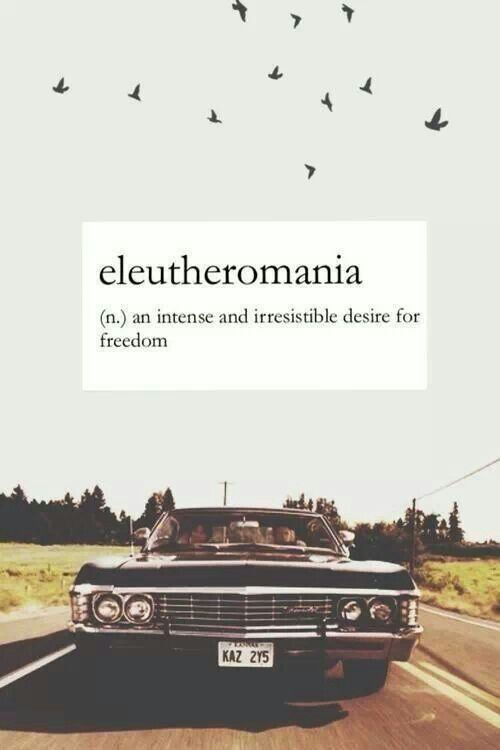 Eleutheromania! I think I've just found the most unpronounceable word to describe me!