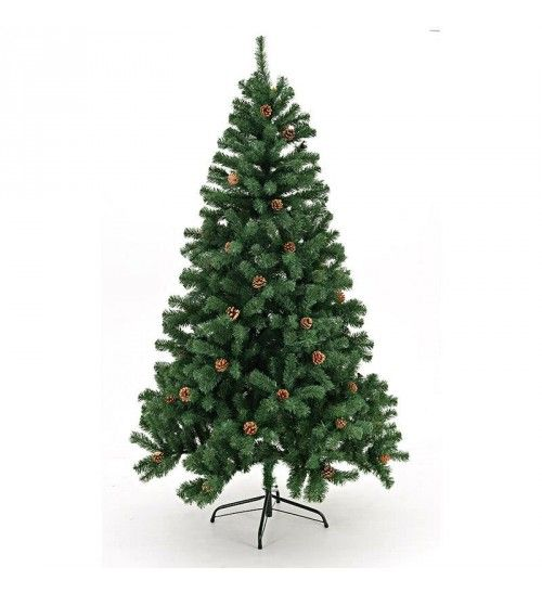 XMAS TREE IN GREEN COLOR W_PINECONE H-180  (850 tips)