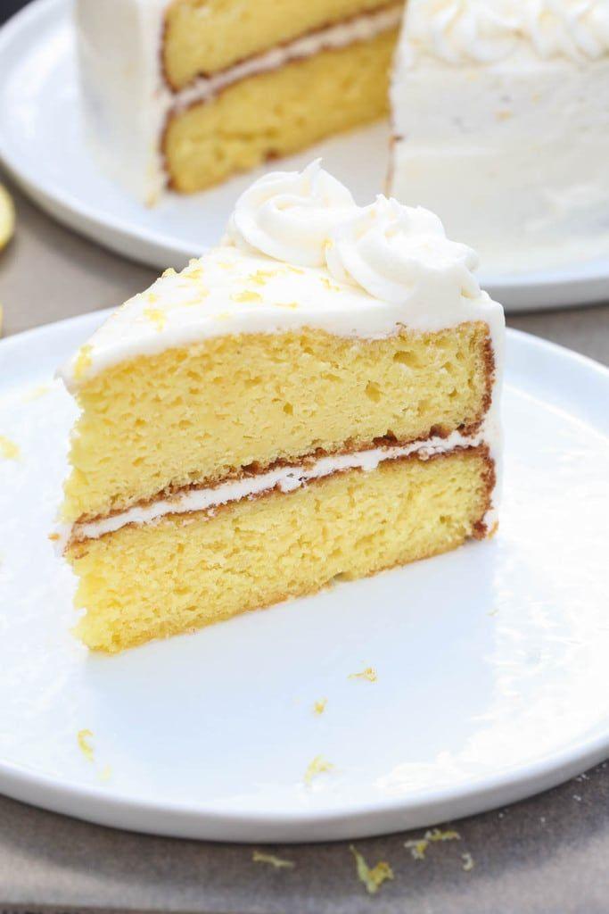 Der BESTE hausgemachte, zweischichtige Zitronenkuchen hat eine köstliche Zitronenbuttercreme …   – Recipes
