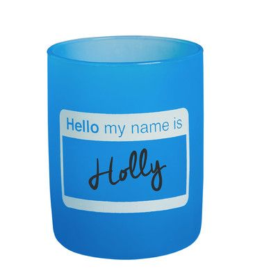 Zipcode Design Ackland Hello My Name Is 12 oz. Siliwine Stemless Wine Glass