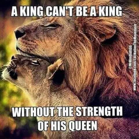 Exactly! This Queen has always supported her King. Thats what it's all about. Help him reach his highest potential and by doing so, you reach yours <3 God says we are our husbands helpers❤️✝ #beingwifecomessecondonlytoGod