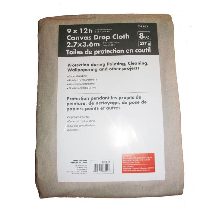 8 ft 9inch x 11 ft 9inch 227g canvas drop cloth