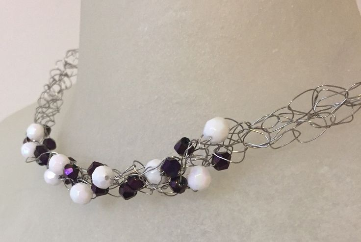 A personal favorite from my Etsy shop https://www.etsy.com/ca/listing/507807001/amethyst-iris-crochet-necklace-gifts-for