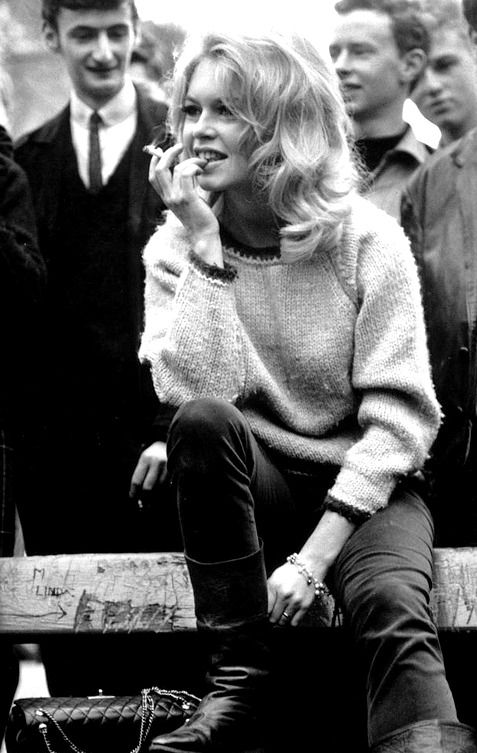 Brigitte Bardot photographed by Sydney O'Meara in Hampstead north London for the filming of 'Agent 38-24-36'.October 25, 1963