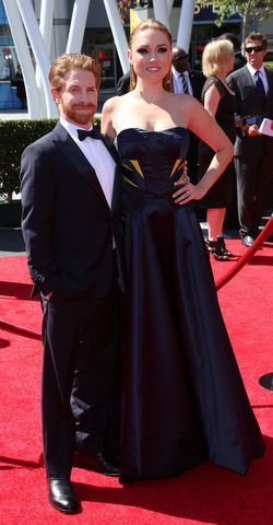 Seth Green and his tall wife Clare Grant