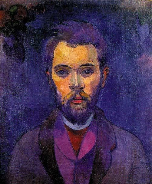 Paul Gauguin, Portrait of William Molard, 1894,,, good example of complimentary color use.