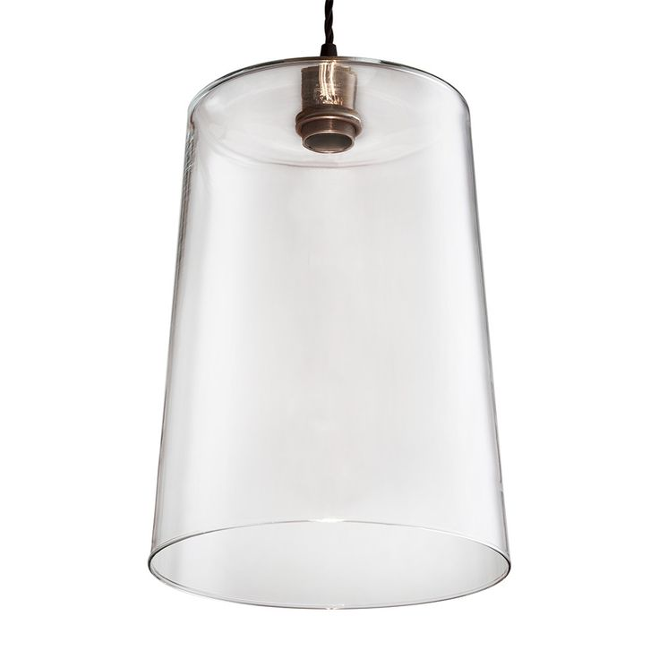 Buy Old School Electric Blown Glass Tapered Pendant - Bronze | Amara