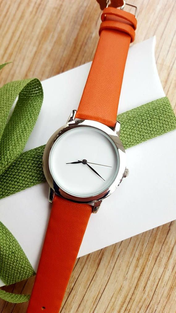Check out this item in my Etsy shop https://www.etsy.com/ie/listing/590329843/elegant-womens-watch-minimalist-orange