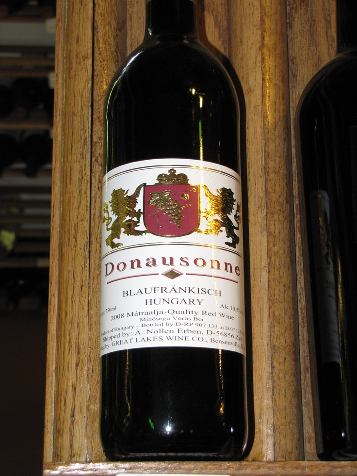 Donausonne is a Hungarian wine brand most famous for their Blaufrankisch varietal wine. This is a fruity, jammy wine with light mineral notes for balance. Blaufrankisch is a dark-skinned, late ripening grape that is grown all over Eastern Europe.