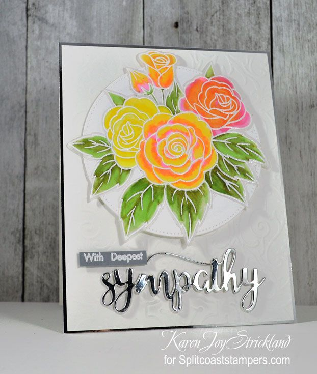 With Deepest Sympathy Rose Bouquet by Thing1 - at Splitcoaststampers