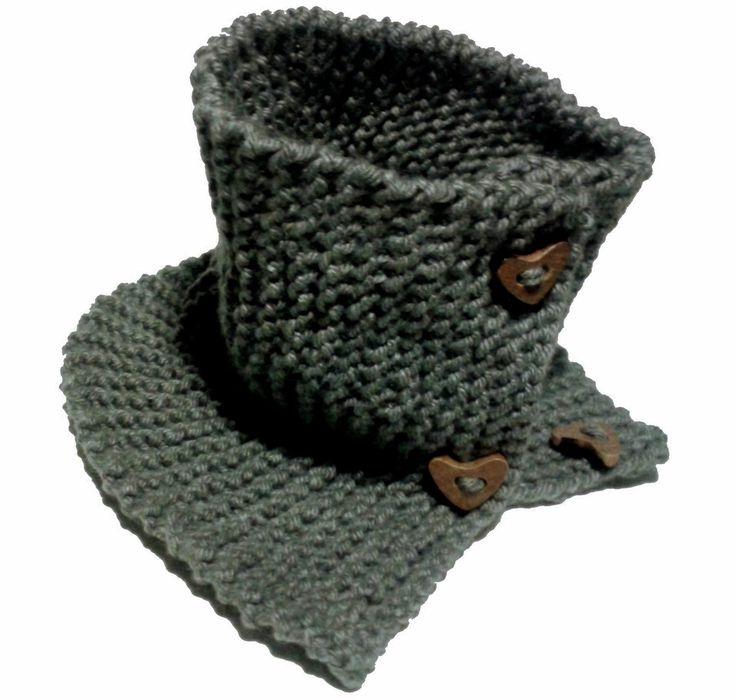 DIY Bufanda de lana cerrada con botones | Handbox Craft Lovers | Comunidad DIY, Tutoriales DIY, Kits DIY