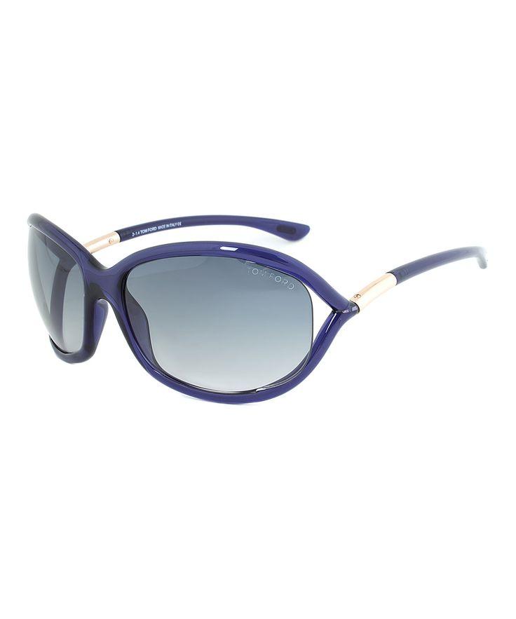 Blue & Gold Jennifer Sunglasses