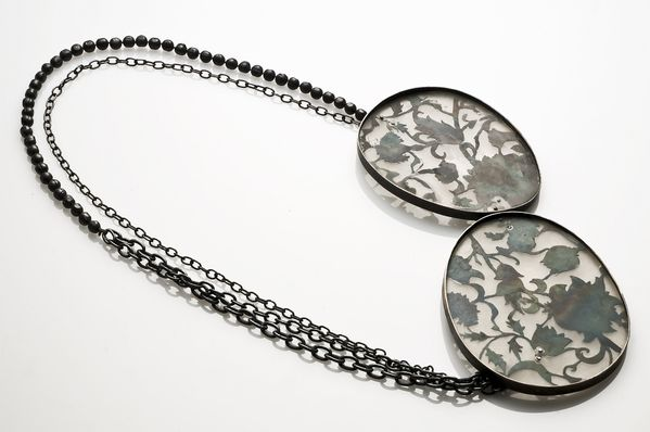 Eugenia Ingegno, Necklace | Silver, iron, hematite, resin | 2008