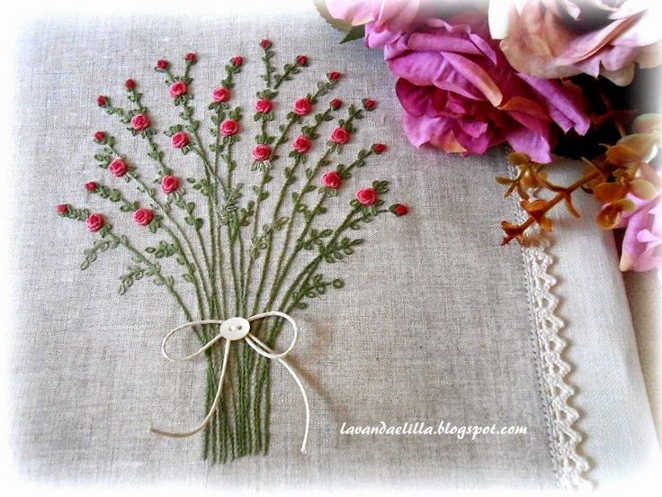 Roses - by Lavender and Lilac - embroidery