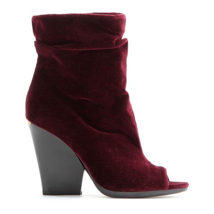- Bateman open-toe velvet ankle boots