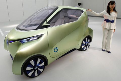 Nissan Pivo 3.  You couldn't give me a car like this one.  I would get crunched by an 18 wheeler in Texas.  I would feel safer in a golf cart.