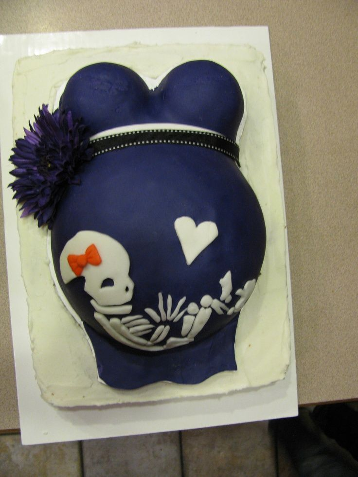 Halloween Cake Ideas | Belly Cake. Halloween | Baby Shower Ideas