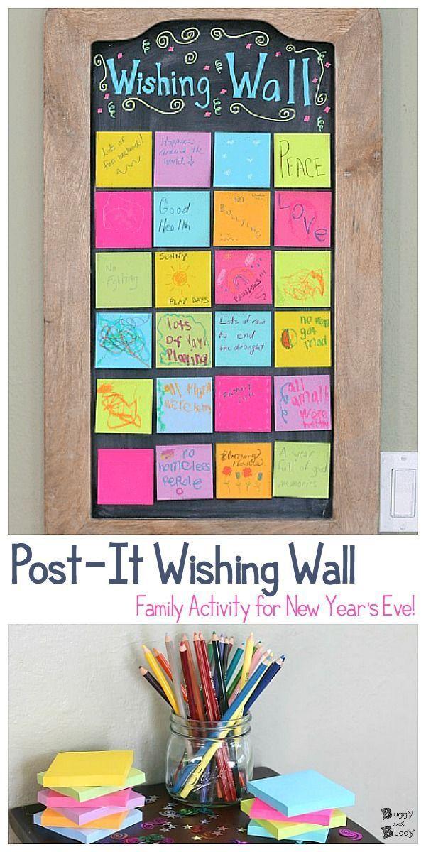 Bilden Sie eine Wunschwand für das neue Jahr mit Haftnotizen! Ein lustiger … – Familienaktivitäten