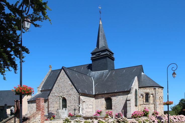 The church of Sainte Marguerite sur Fauville, France.