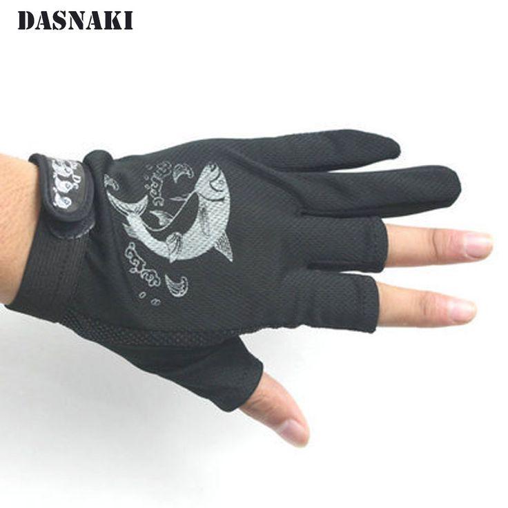 luva de pescaria Fishing guide gloves three sub sunscreen antiskid professional outdoor rock Fishing Gloves