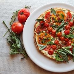 An early autumn tomato-pancetta tart is perfect for tailgating {recipe ...