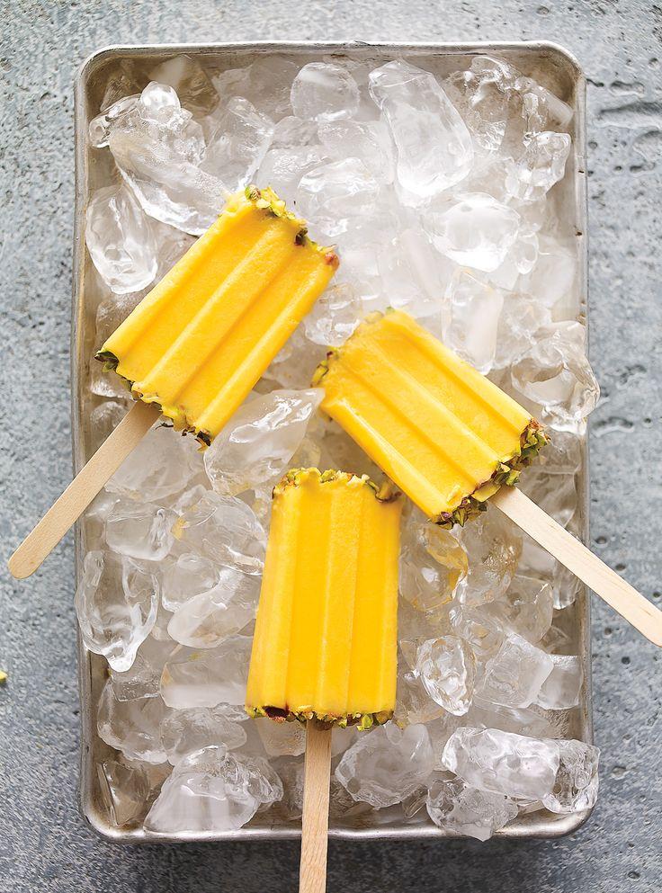 Recette de sucettes glacées lassi à la mangue de Ricardo