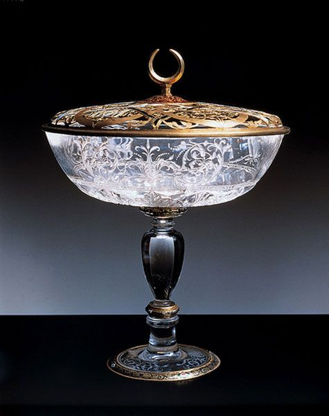 Cup of Diana de Poitiers                                            Carved rock crystal and gold                                            1550