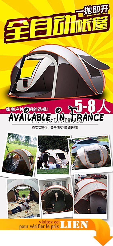 B075868WGR   zhudj Tentes Outdoor 2personnes 34 vitesse automatique ouvrir  Pluie Selbstfahrer camping tentes 5personnes. Structure de la tente  un … 10d3f769edc7