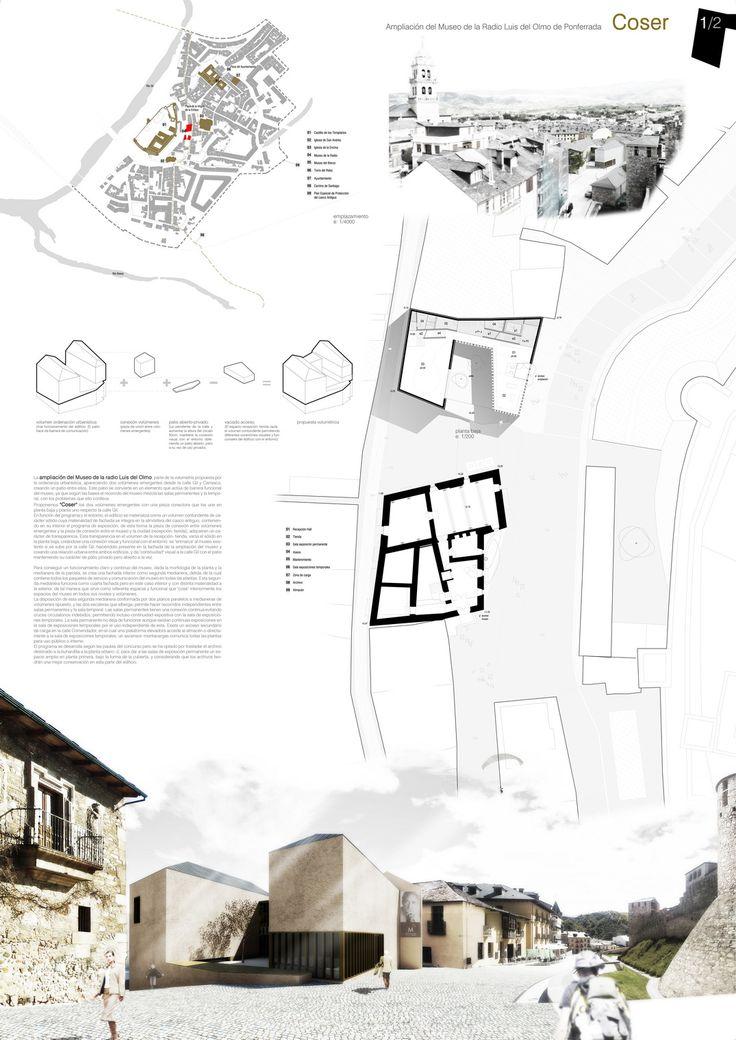 'Coser' Propuesta para el Museo de la Radio en Ponferrada   accésit ediciones de arquitectura