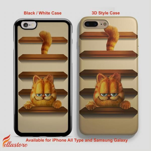 cool Garfield Cute Garfield Cat iPhone 7-7 Plus Case, iPhone 6-6S Plus, iPhone 5 5S SE, Samsung Galaxy S8 S7 S6 Cases and Other
