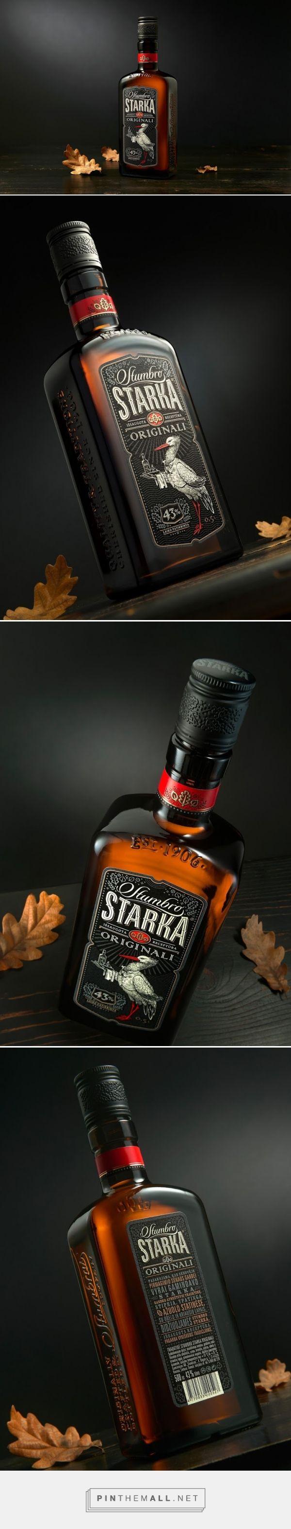 Stumbro STARKA vodka packaging designed by Studija CREATA - http://www.packagingoftheworld.com/2015/11/stumbro-starka.html
