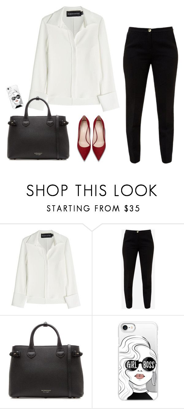 """""""Girl boss"""" by monika1555 on Polyvore featuring Brandon Maxwell, Ted Baker, Burberry and Casetify"""