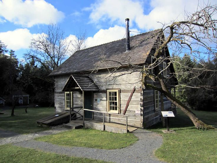The Caleb Pike Homestead (1883) in Caleb Pike Heritage Park near Langford, BC, Canada.