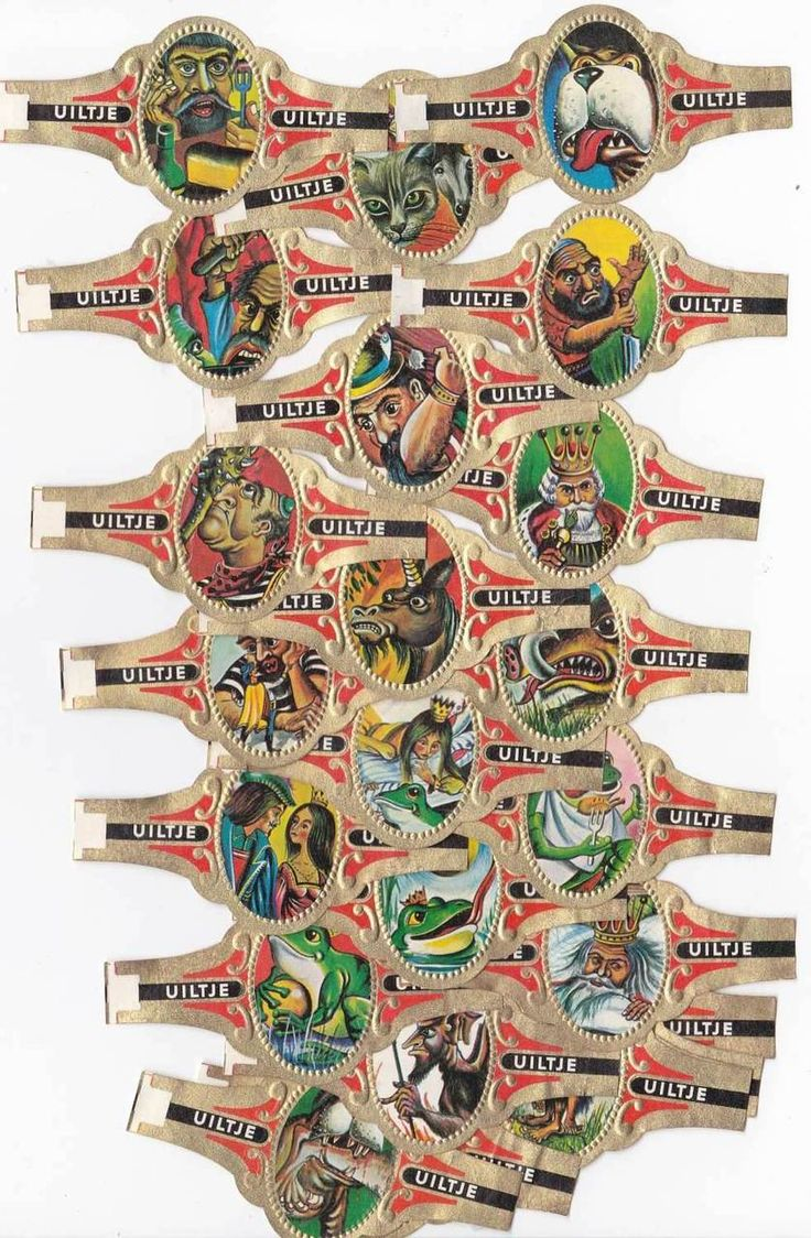 24 cigar bands Uiltje Fairy Tales Set Iv iss in 1969, €2.25