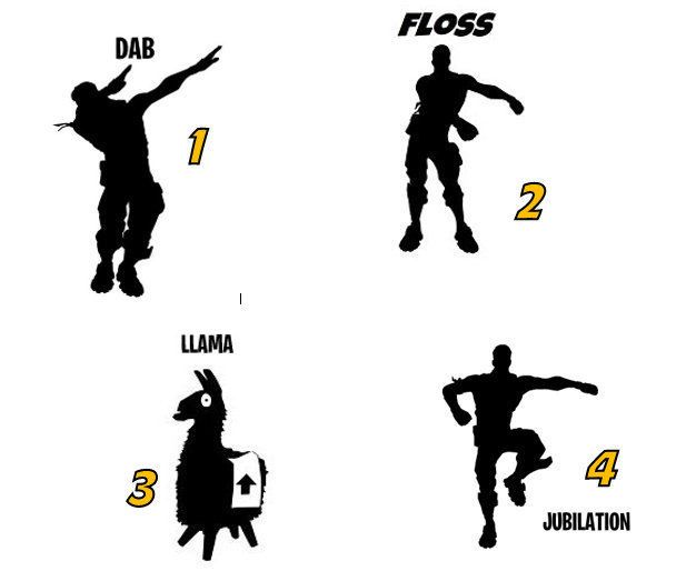 Fortnite Emote Dance Vinyl Decal Dab Llama Jubilation