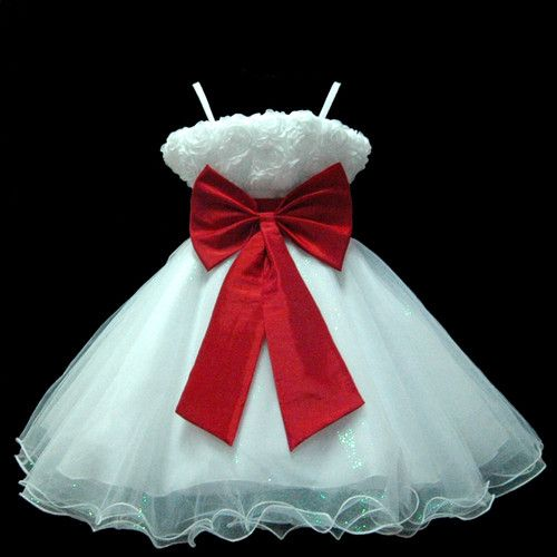 ADORE this Dress!!! ******************UKMD70 Red Pageant Wedding Christmas Easter Party Baby Flower Girl Dress 1 -14 Y | eBay