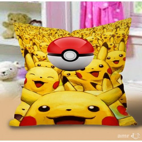 Pokemon Pikachu Ball Pillow Case #Handmade #pillowcase #pillowcover #cushioncase #cushioncover #best #new #trending #rare #hot #cheap #bestselling #bestquality #home #decor #bed #bedding #polyester #fashion #style #elegant #awesome #luxury #custom #supreme
