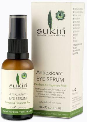 Antioxidant Eye Serum Runner up best eye cream! -NZ Sunday Star Times Sunday Mag. Suitable for sensitive skin types! #eye #cream