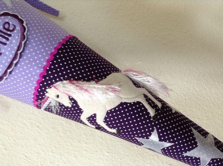 Schultüten - Schultüte Einhorn lila flieder - ein Designerstück von little-and-sweet bei DaWanda