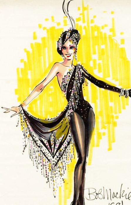 Bob Mackie Showgirl sketch