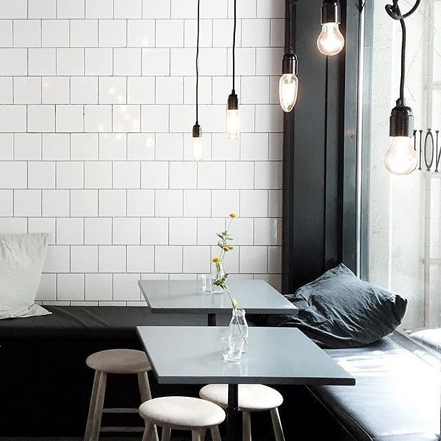 cafe & restaurant | minimal industrial interior with grey colour palette #industrial #cafe