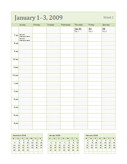 Weekly Calendar Template-1