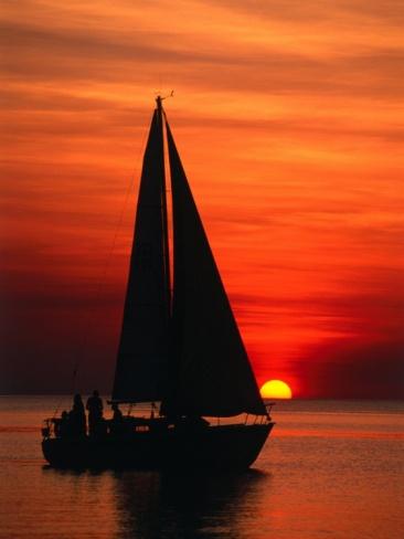 Sailboat at Mindil Beach Darwin, Northern Territory, Australia