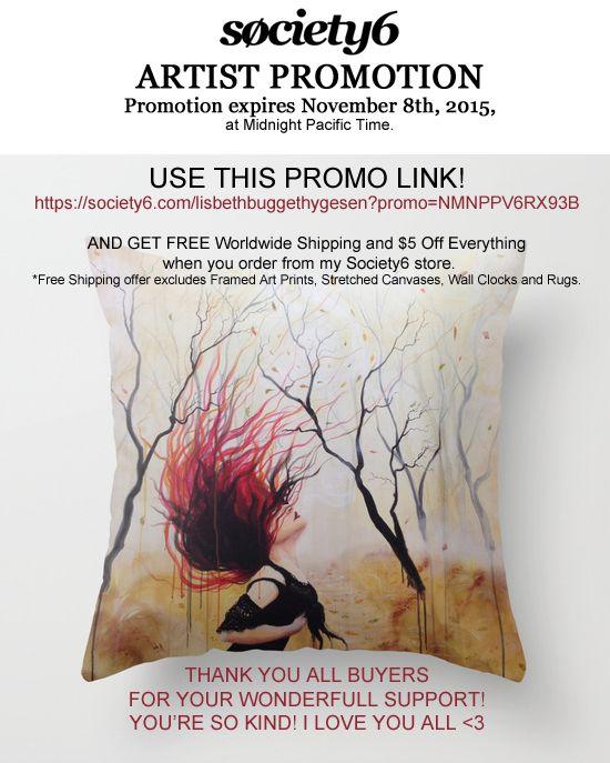 Artist promotion, society 6, Lisbeth Thygesen
