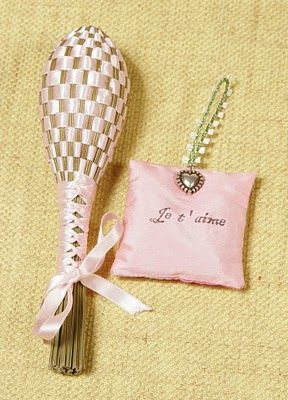 "Idea from 'A Gift Wrapped Life' blog: ""lavender wands from Provence were originally designed for romance. A gentleman would give these ribboned and lavender scented wands to his betrothed to scent her growing trousseau during their engagement. Exquisite intent and a thoughtful engagement gift."""