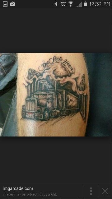 1000 images about trucker tattoos on pinterest harley for Truck tattoos designs