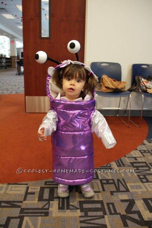 Words cannot express how much I love this. Seriously if I have a daughter that when's she's 3 has black hair, she WILL be Boo for Halloween at least once. Even if she, and all the other kids don't understand. All the adults will get a kick out of it. I'll also make my husband go with her dressed as Sully.