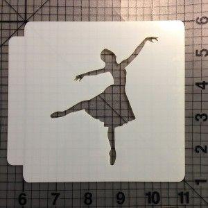 Ballerina Stencil 102