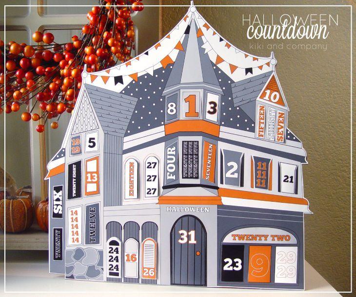 free halloween countdown at kiki and company #free #printable #halloween