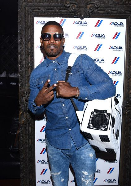 Recording artist and actor Jamie Foxx attends a private event at Hyde Staples Center hosted by AQUAhydrate for the Drake and Future concert.